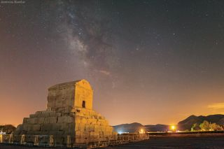Milky Way from Pasargadae world heritage site in Iran
