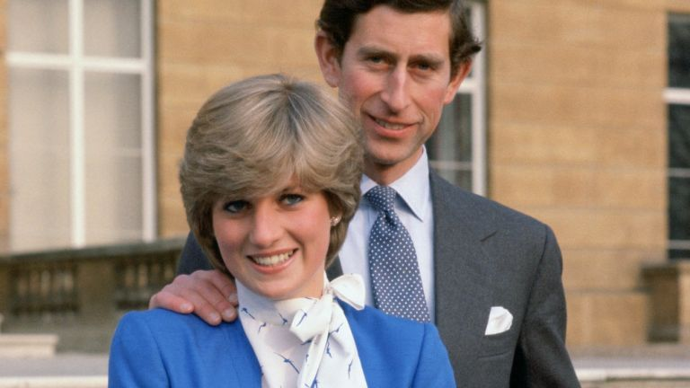 princesdiana in blue suit with charles