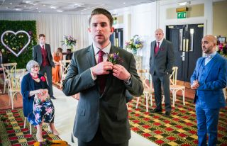 Callum is waiting at the altar in EastEnders