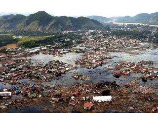 Sumatran village destroyed by tsunami