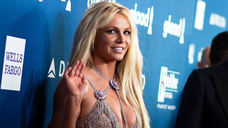 Singer Britney Spears attends the 29th Annual GLAAD Media Awards at the Beverly Hilton on April 12, 2018 in Beverly Hills, California. / AFP PHOTO / VALERIE MACON