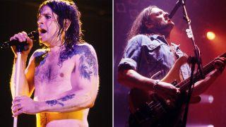 [L-R] Ozzy Osbourne and Lemmy Kilmister
