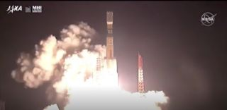 A rocket from the Japanese aerospace exploration agency H-IIB launches the HTV-8 cargo ship to the International Space Station on September 24, 2019 EDT (September 25 Japanese time) from the Tanegashima Space Center in southern Japan.