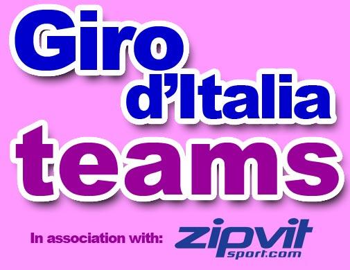Giro d'Italia 2010 teams logo