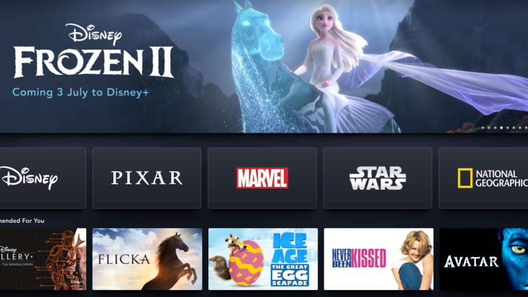 Disney Plus homepage screenshot