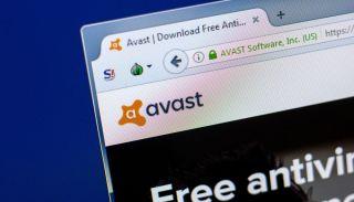 Avast website displayed in a browser tab.
