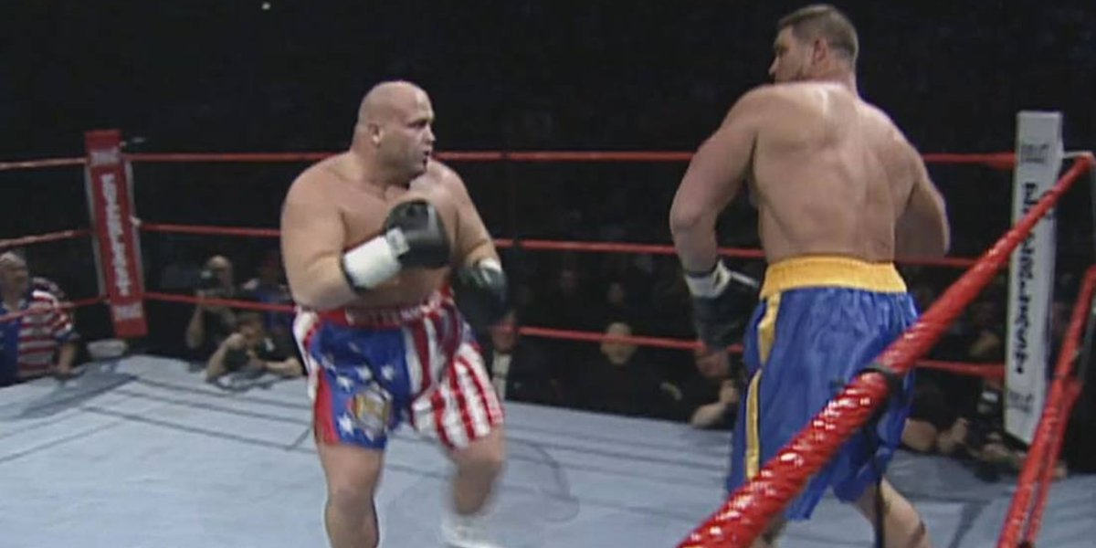 Butterbean and Bart Gunn at WrestleMania 15