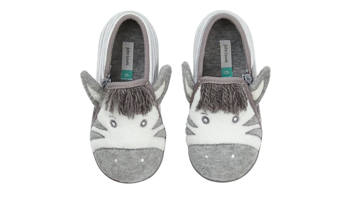 Girls Small Kids Ankle Bootee Novelty Claw Slippers Grey