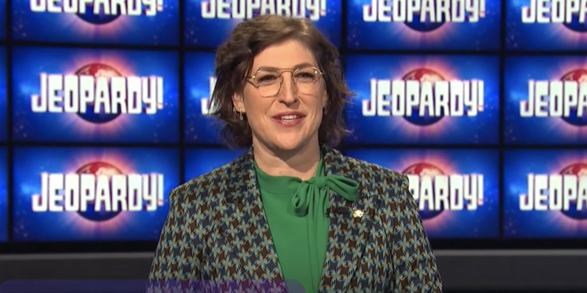 mayim bialik jeopardy video screenshot
