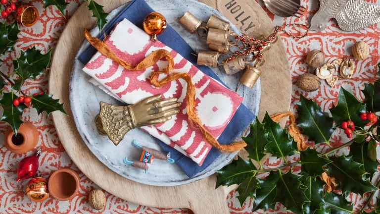 Christmas table setting idea
