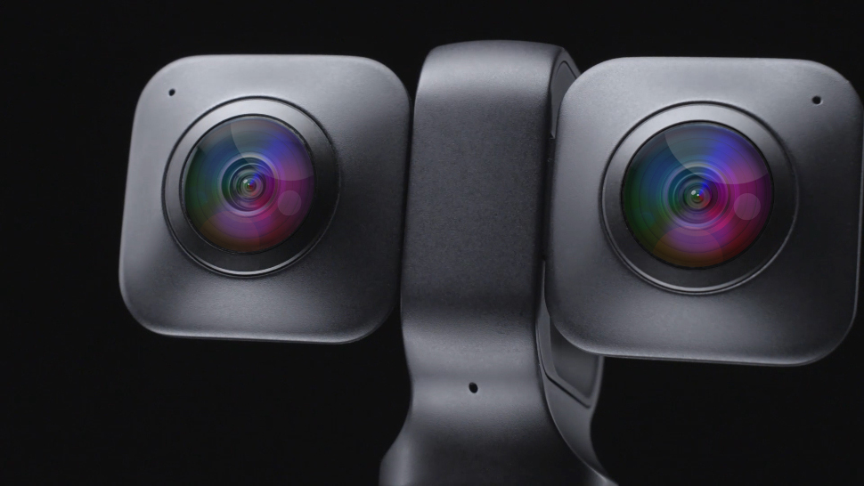 This is an image of the Vuze XR, a 360 camera, capable of 180 VR viewing.
