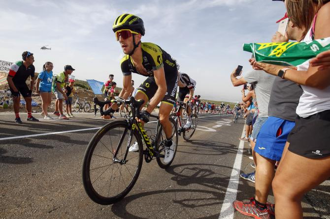 Simon Yates climbs La Covatilla during stage 9 at the Vuelta