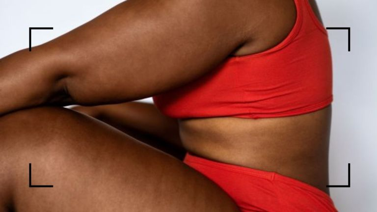 does coolsculpting work? main image of curvy woman in athletic gear