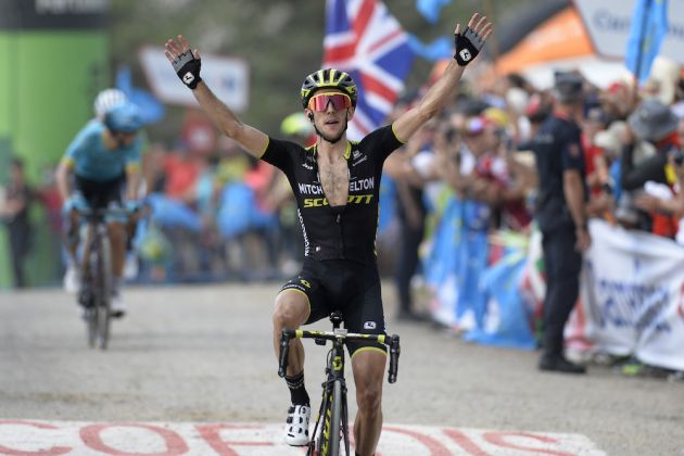 1d8a96f52 Simon Yates reclaims red jersey with victory on Vuelta a España stage 14