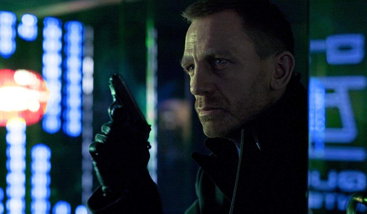 Skyfall scruffy Bond waits in shadows with pistol