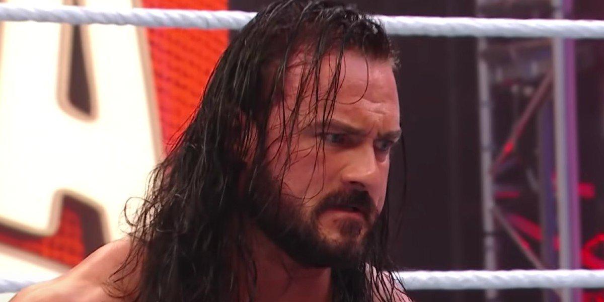 Drew McIntyre angry at Brock Lesnar WrestleMania 36