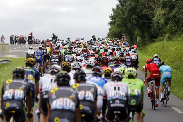 The peloton on stage 3 of the 2016 Tour de France