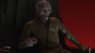 Snoke in The Last Jedi