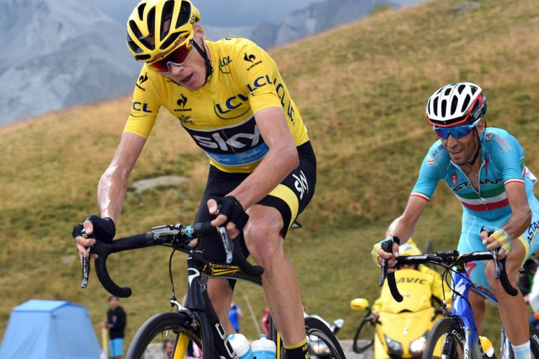 Chris Froome on stage seventeen of the 2015 Tour de France
