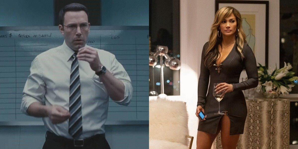 Ben Affleck in The Accountant and Jennifer Lopez in Hustlers