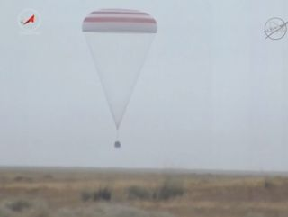Soyuz Spacecraft Landing, Sept. 11, 2015