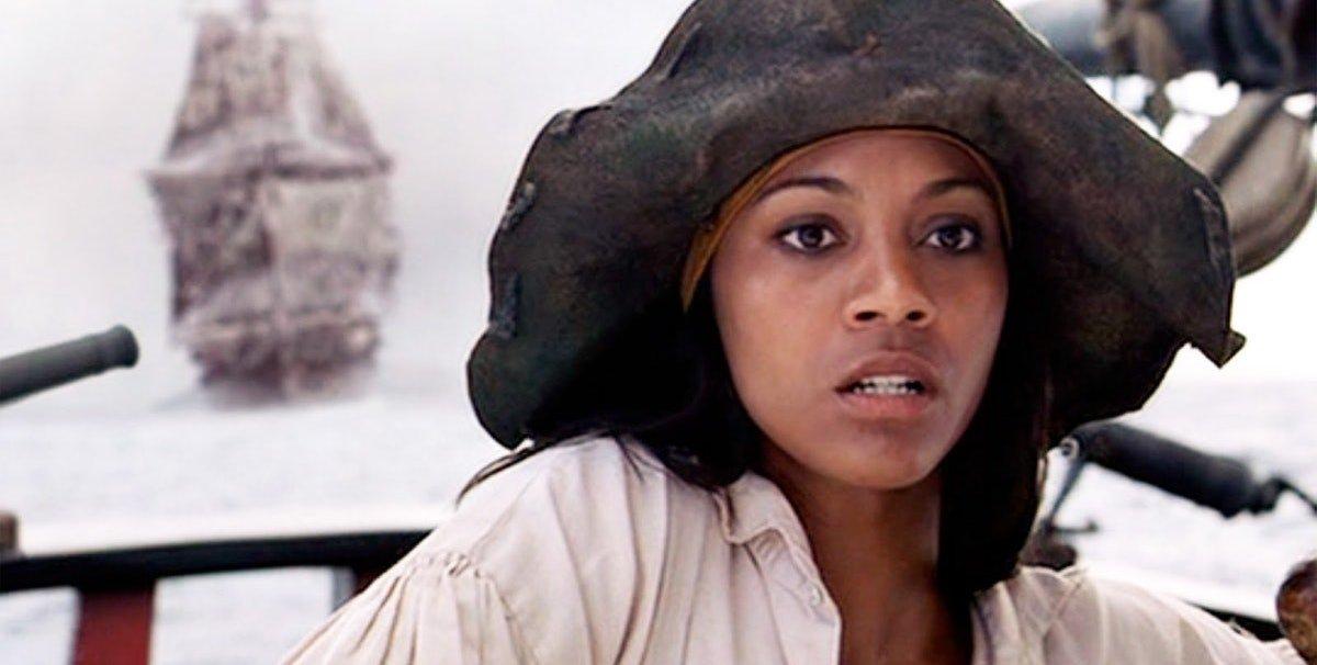 Zoe Saldana in Pirates of the Caribbean