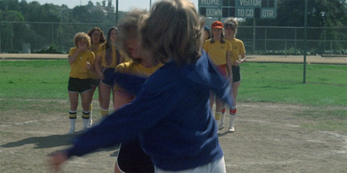 Betty Buckley as Miss Collins Slaps Nancy Allen as Chris Hargensen in Carrie