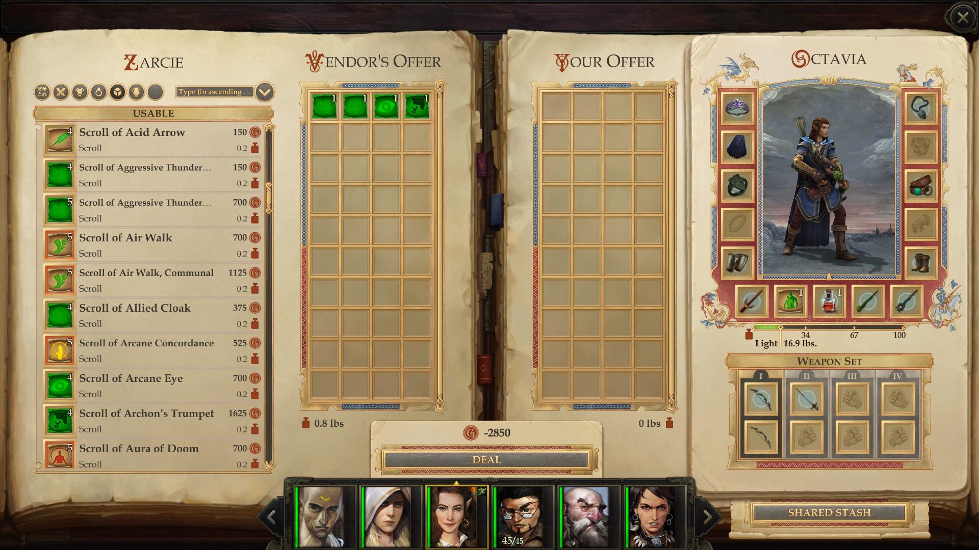 Highlight Learnable Scrolls turns scrolls green