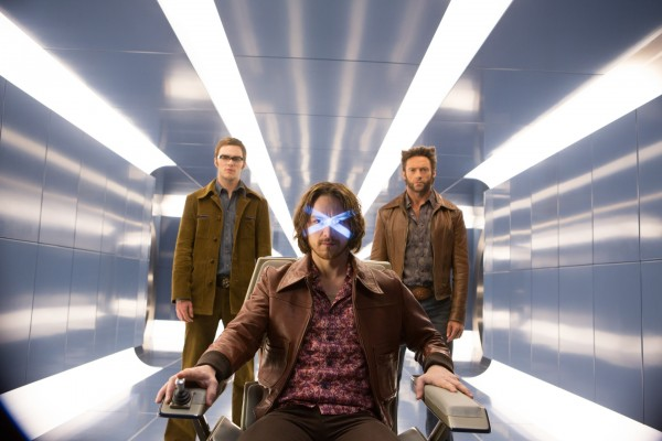 X-Men Days Of Future Past stars James McAvoy, Michael Fassbender and Nicholas Hoult