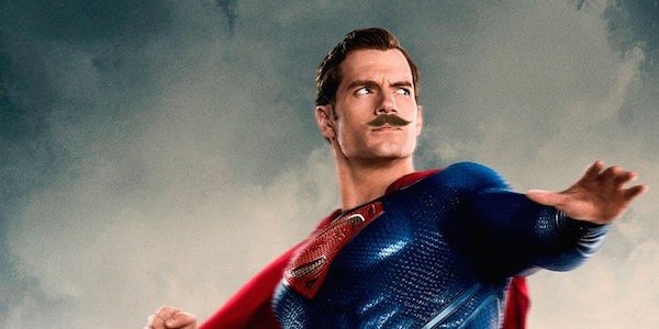 Superman with a mustache