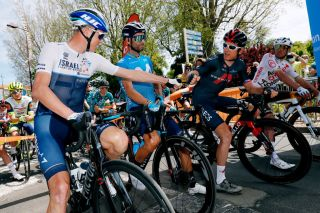 Chris Froome and Geraint Thomas at the Criterium du Dauphine