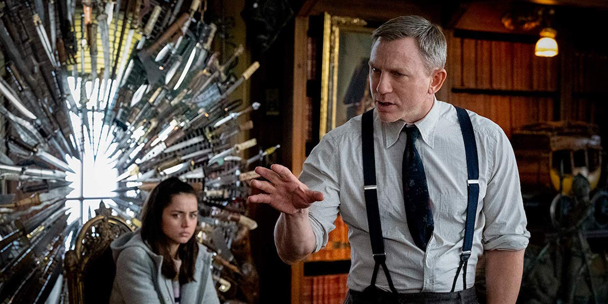 Ana de Armas and Daniel Craig in Knives Out