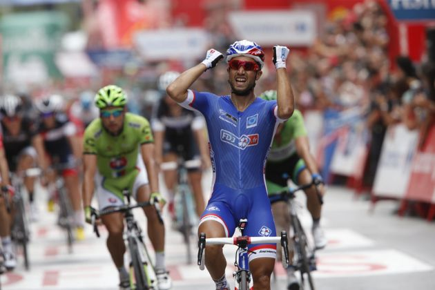Nacer Bouhanni wins stage eight of the 2014 Tour of Spain