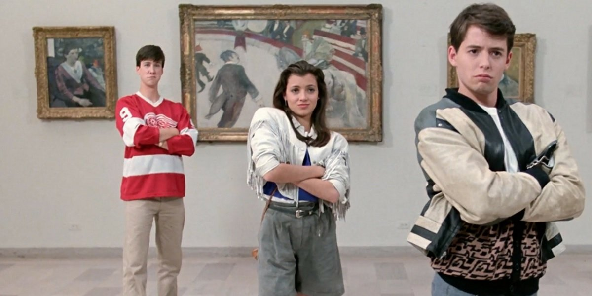 Alan Ruck, Matthew Broderick, and Mia Sara in Ferris Bueller's Day Off
