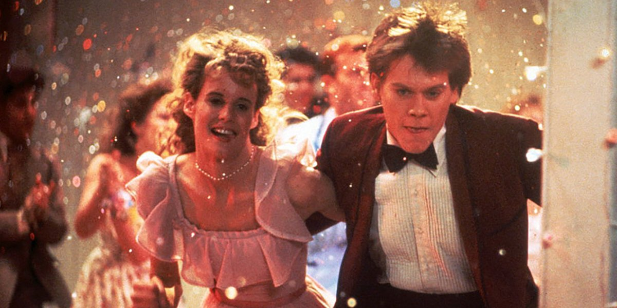 Lori Singer and Kevin Bacon in Footloose
