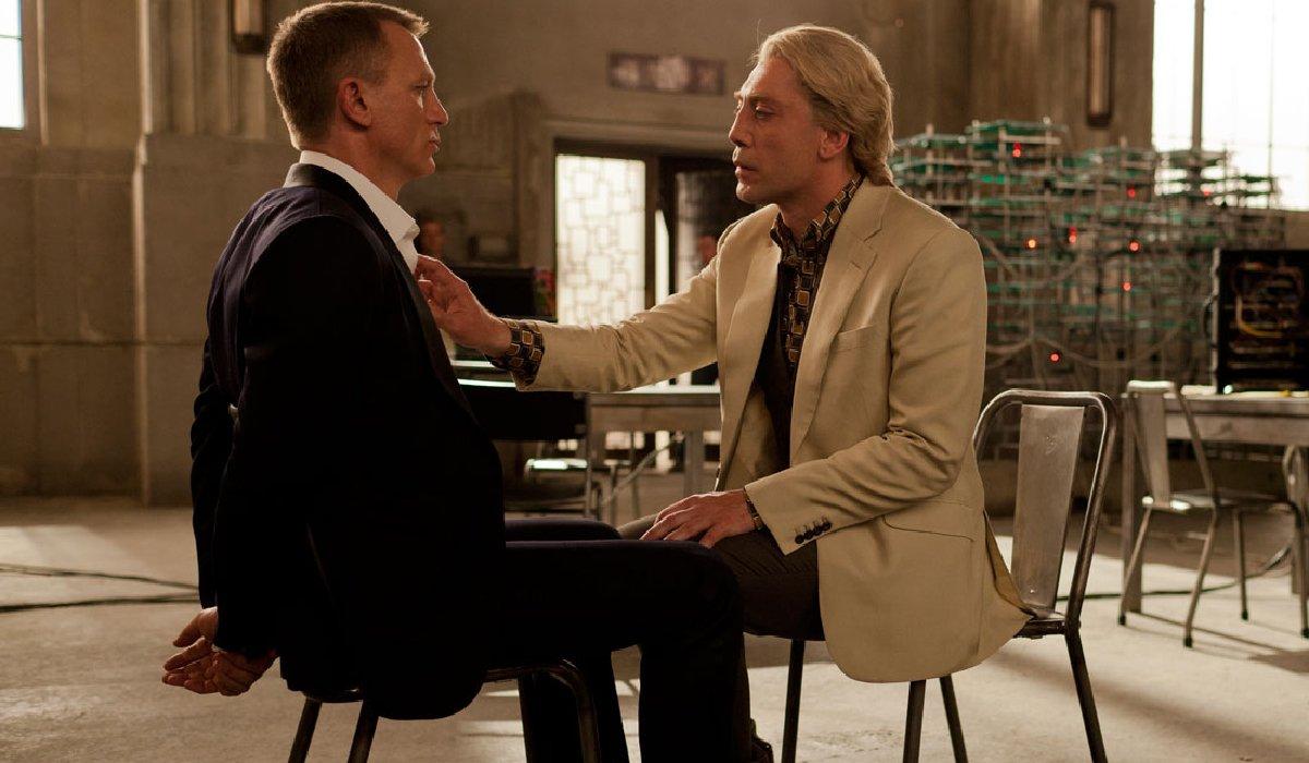Skyfall Silva interrogates Bond very closely