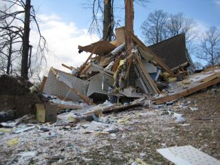 Tornado damage near Harvest, Alabama, from the March 2, 2012, outbreak.