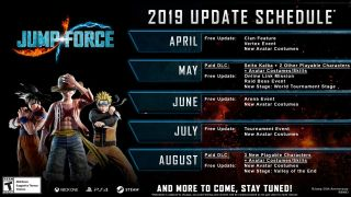 Jump Force Roadmap And Dlc Schedule Reveals A Free Update In