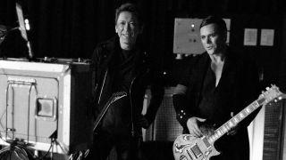 Hotei with Rammstein guitarist Richard Kruspe