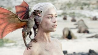 Is Game of Thrones on Netflix? Emilia Clarke as Daenerys Targaryen in Games of Thrones season 1.