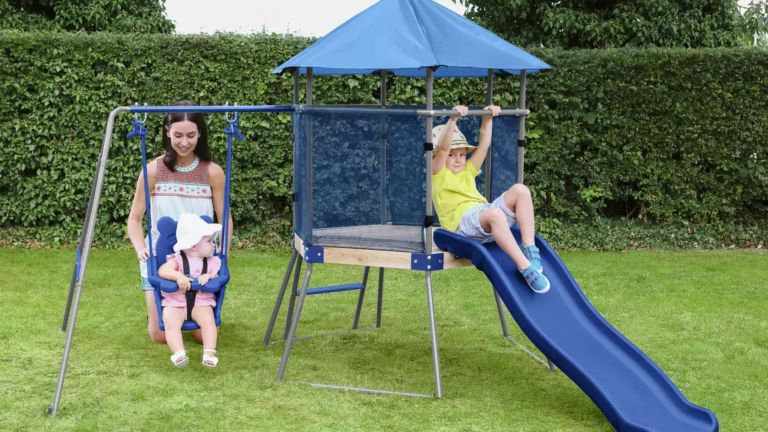 Cheap climbing frames: Chad Valley Climbing Frame with Toddler Swing and Kids Slide