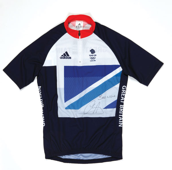 GB jersey signed by Sir Chris Hoy