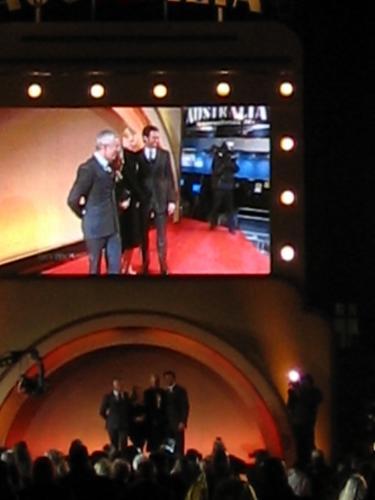 Baz Luhrmann, Nicole Kidman and Hugh Jackman