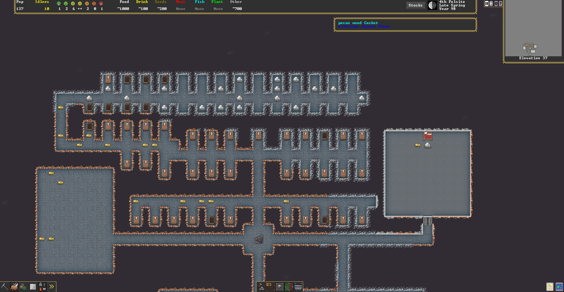 in-progress image of the upcoming graphical version of Dwarf Fortress.