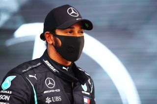 BUDAPEST, HUNGARY - JULY 18: Pole position qualifier Lewis Hamilton of Great Britain and Mercedes GP looks on in parc ferme during qualifying for the F1 Grand Prix of Hungary at Hungaroring on July 18, 2020 in Budapest, Hungary.