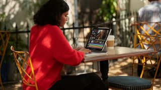 Best iPad keyboards: The iPad Pro with Apple's Magic Keyboard case being used at a desk