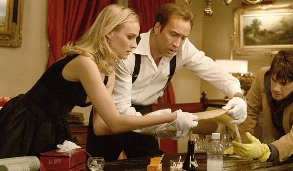 National Treasure Diane Kruger Nicholas Cage Justin Bartha looking for clues on the Declaration
