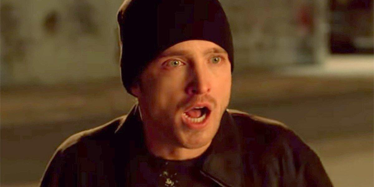 Aaron Paul Jesse Pinkman looks shocked Breaking Bad AMC
