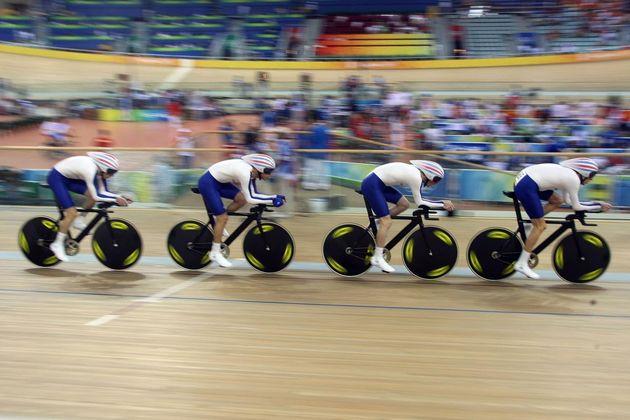 British team pursuit quartet world record Olympics 2008