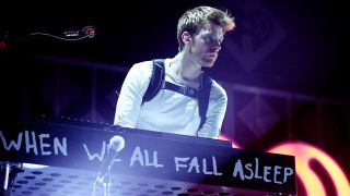 Finneas O'Connell performing live with Billie Eilish at 102.7 KIIS FM's Jingle Ball 2019